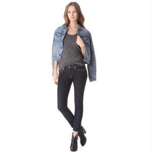 rag & bone capri jean heritage wash size 26